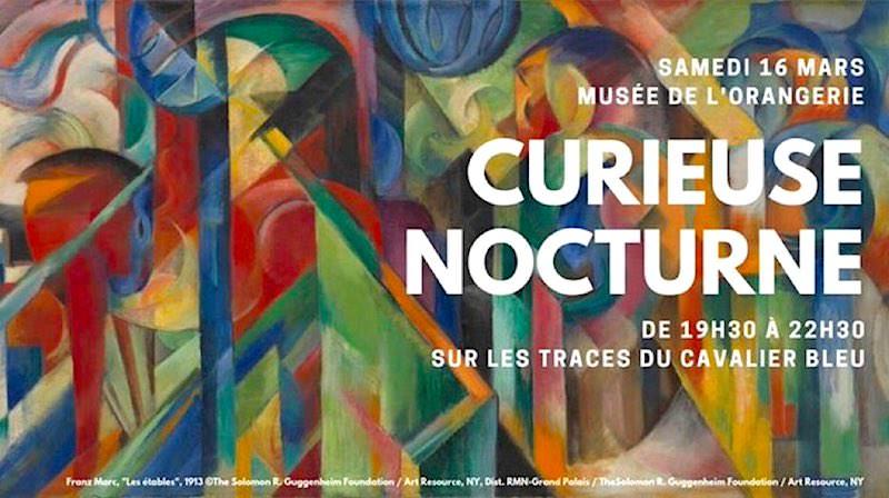 Exposition Franz Marc / August Macke. L'aventure du Cavalier bleu à l'Orangerie du 6 mars au 17 juin 2019
