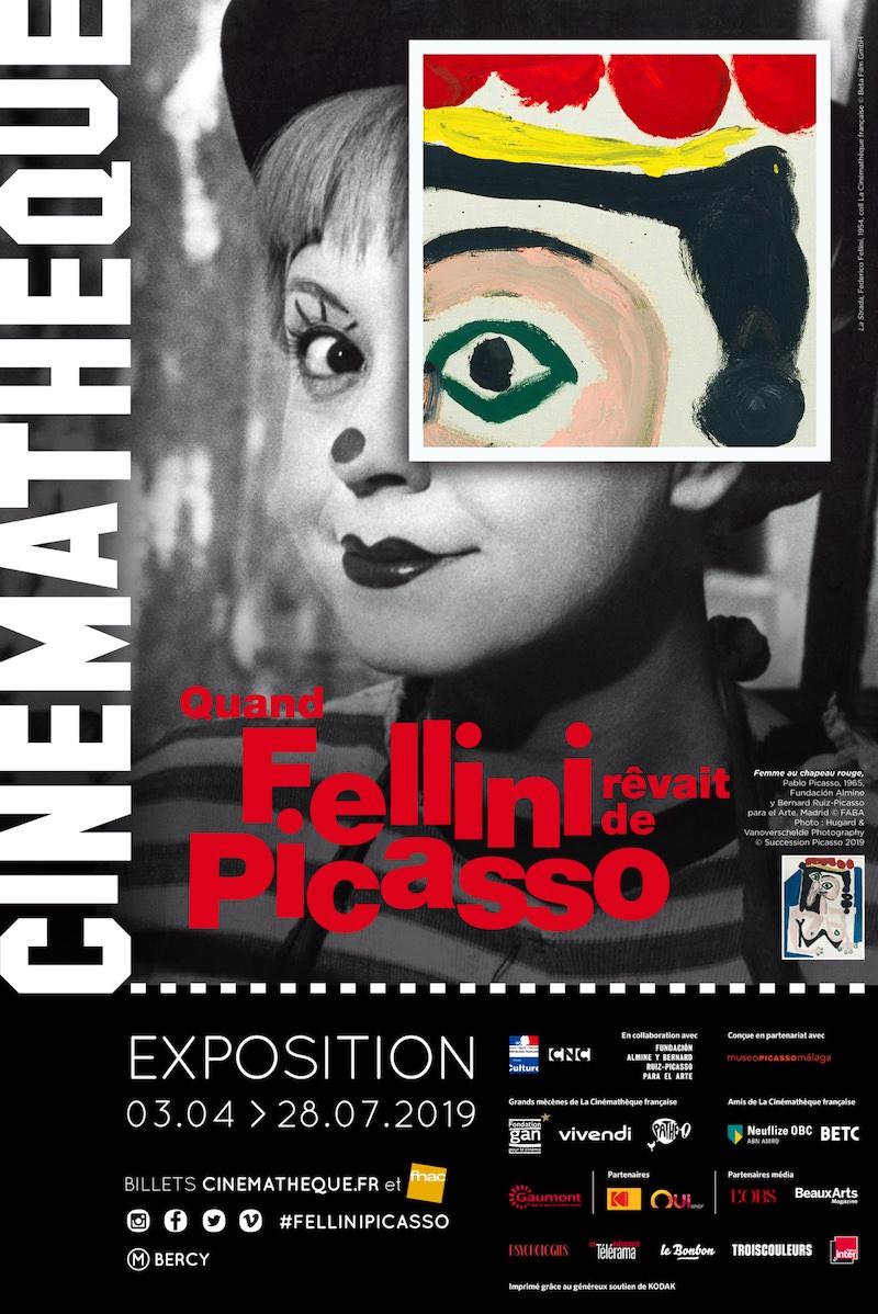 Exposition Quand Fellini rêvait de Picasso à la Cinémathèque française du 3 avril au 28 juillet 2019