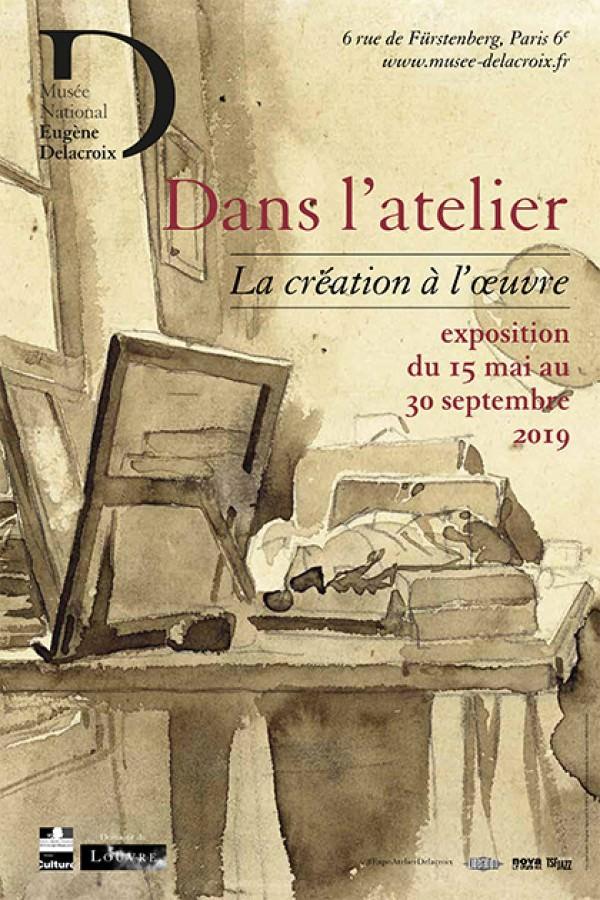 Exposition Dans l'atelier au musée Eugène-Delacroix du 15 mai au 30 septembre 2019