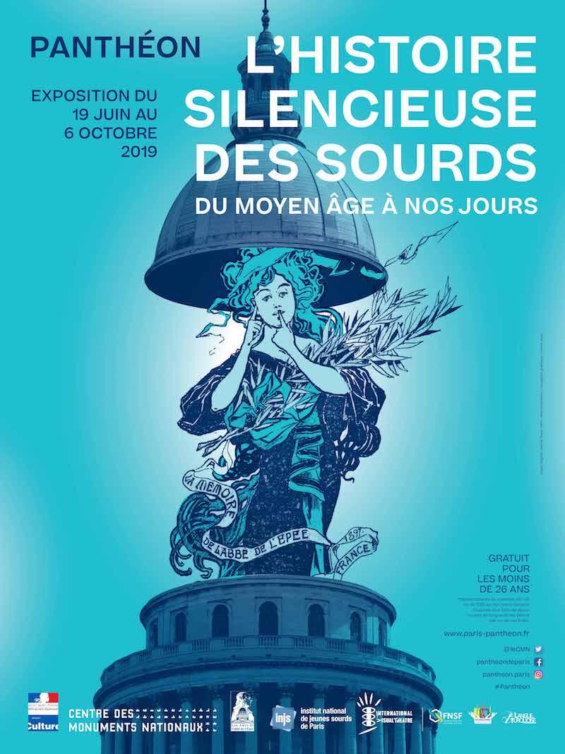 Exposition L'Histoire silencieuse des Sourds au Panthéon du 19 juin au 6 octobre 2019