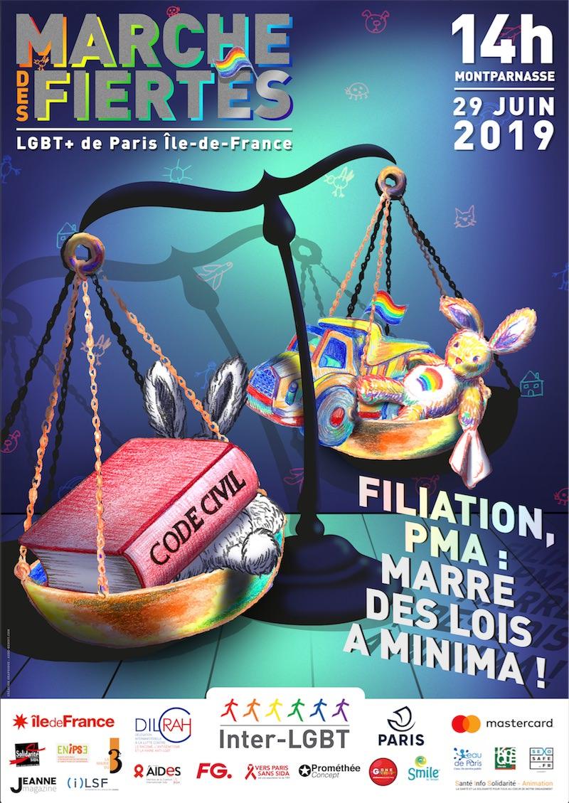La Marche des Fiertés à Paris, samedi 29 juin 2019