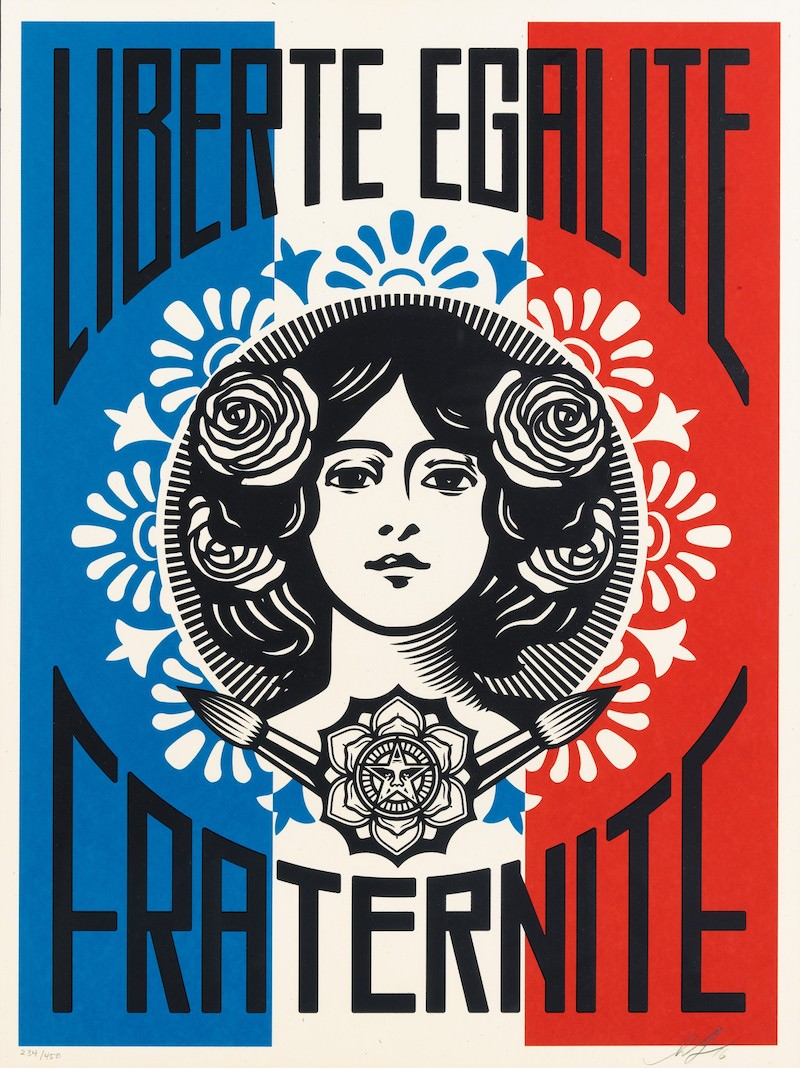 Exposition Facing The Giant: 3 decades of dissent de Shepard Fairey à la Galerie Itinerrance du 22 juin au 27 juillet 2019