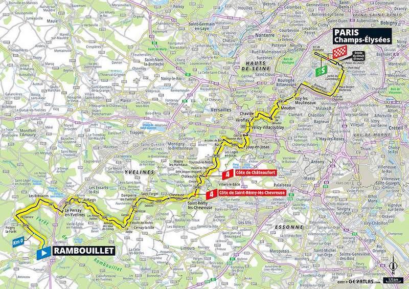 Arrivée de la Tour de France sur les Champs-Élysées, dimanche 28 juillet 2019