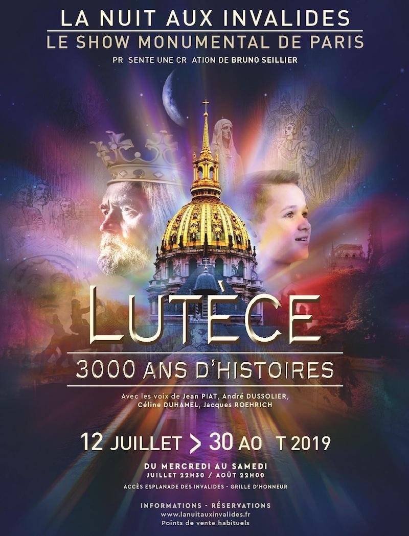 Spectacle La Nuit aux Invalides jusqu'au 30 août 2019