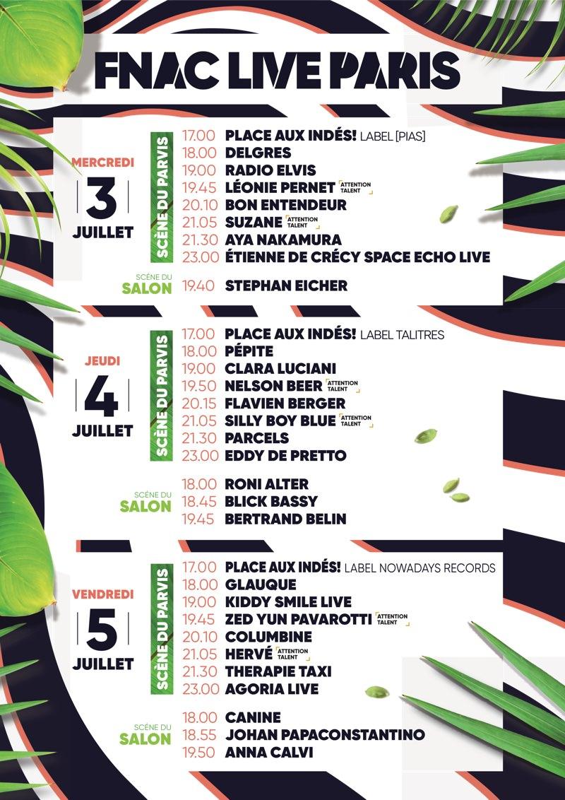Le Festival Fnac Live à Hôtel de Ville le 3, 4 & 5 juillet 2019