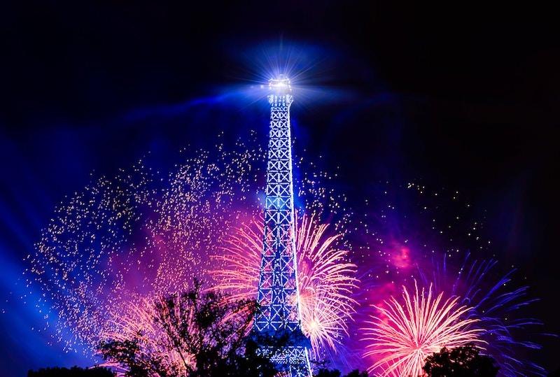 Le feu d'artifice du 14 juillet 2019 à la Tour Eiffel