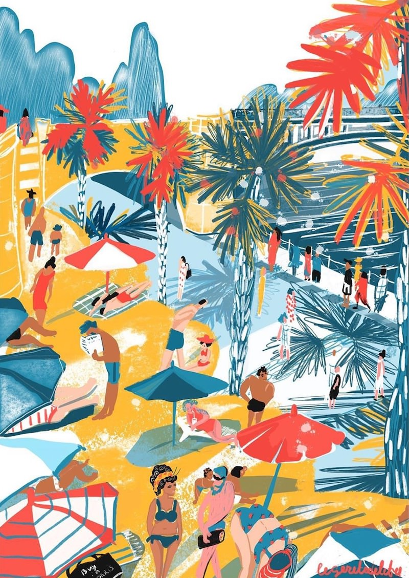 Paris Plage 2019 print by ANNA
