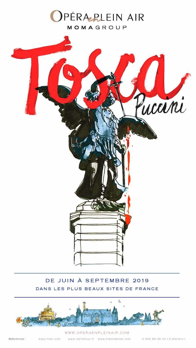 Tosca en plein air aux Invalides du 4 au 8 septembre 2019
