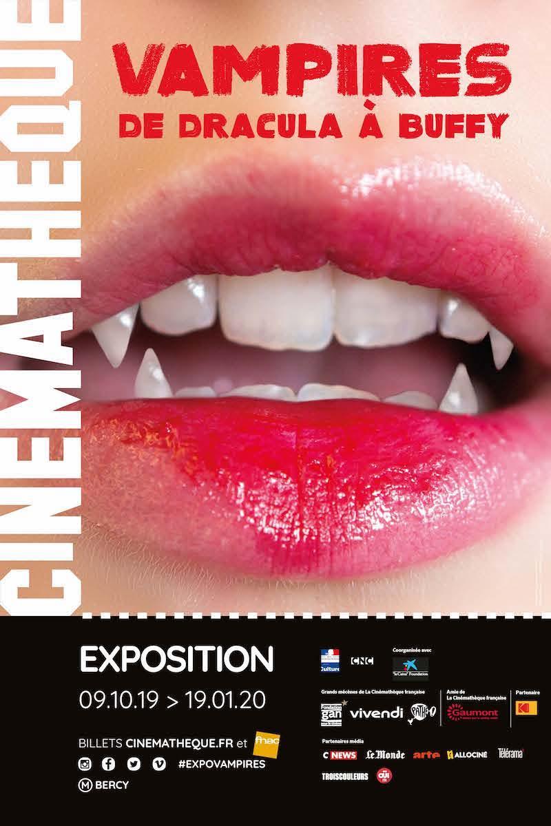 Exposition Vampires, de Dracula à Buffy à la Cinémathèque française du 9 octobre 2019 au 19 janvier 2020