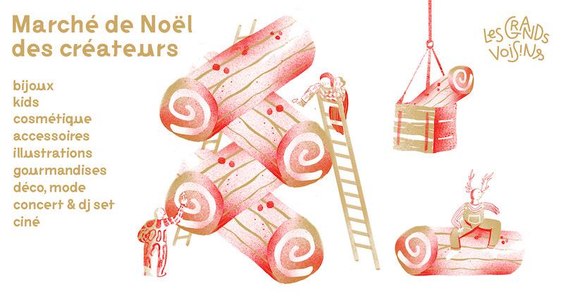 Marché de Noël, marché des créateurs et bal swing aux Grands Voisins