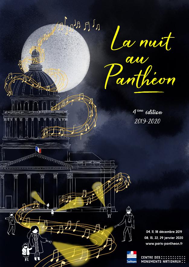 La Nuit au Panthéon du 4 décembre 2019 au 29 janvier 2020
