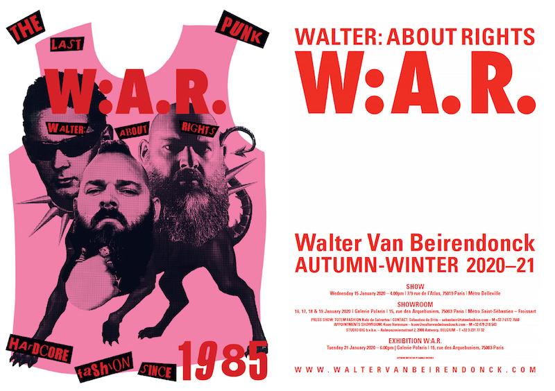 Exposition Walter Van Beirendonck à la Galerie Polaris du 21 janvier au 22 février 2020