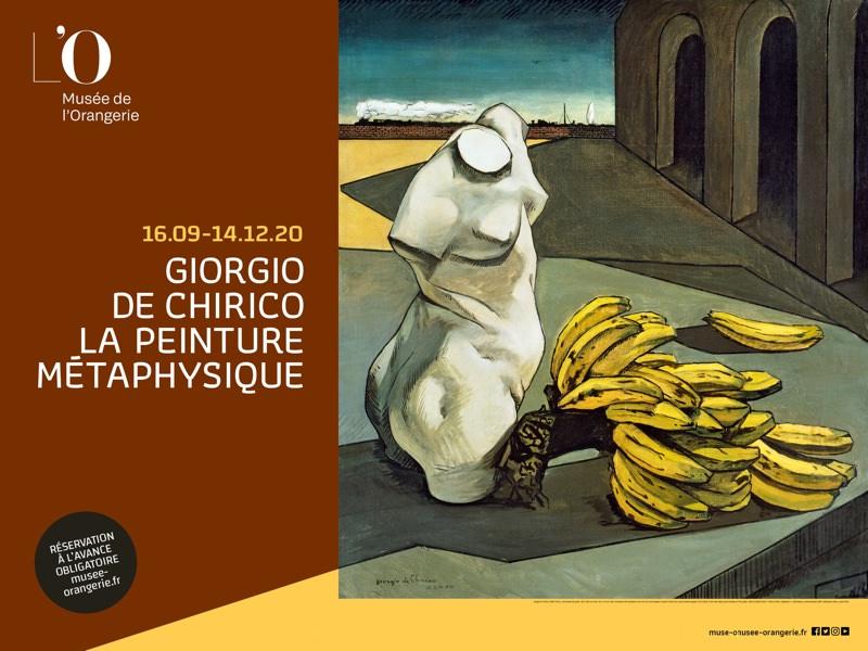 Exposition Giorgio de Chirico à l'Orangerie du 16 septembre au 14 décembre 2020