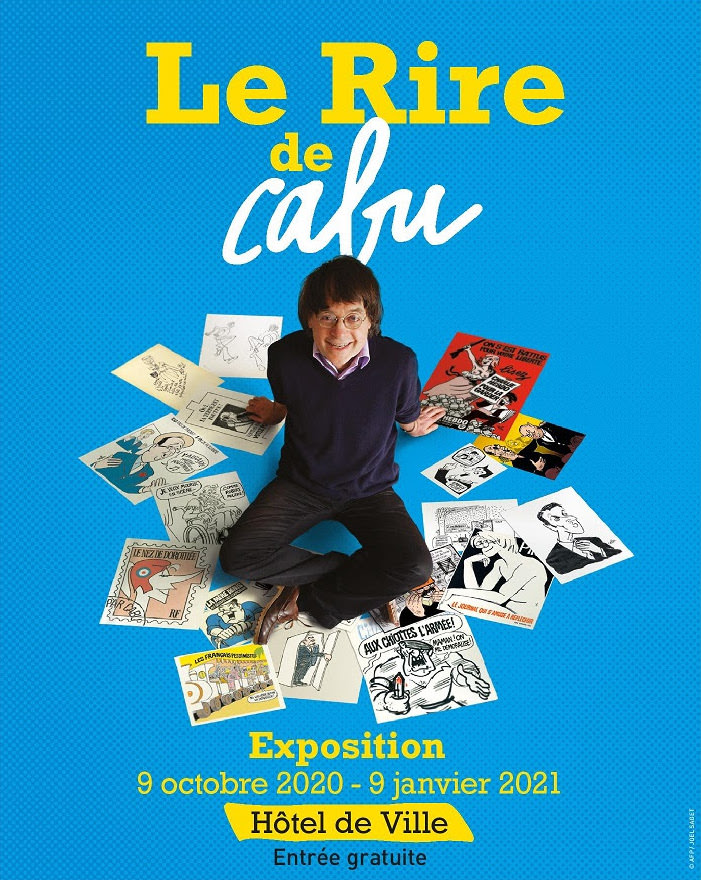 Cabu's laughs exhibition at Hôtel de Ville until 19th December 2020