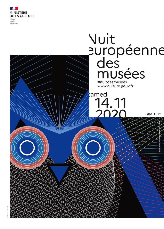 Affiche pour La Nuit des Musées 2020 le 14 novembre, en ligne