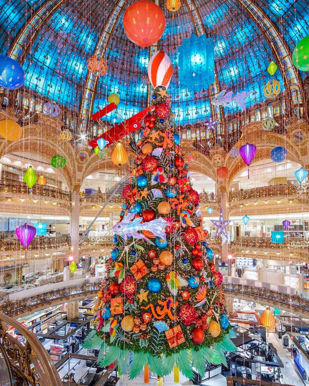 Noël 2020 aux Galeries Lafayette Haussmann, Paris