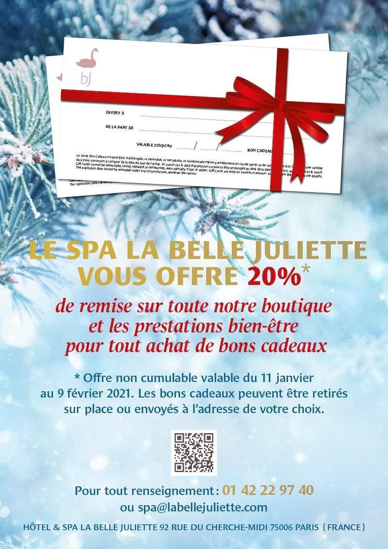 Le Spa la Belle Juliette vous offre 20% de remise !