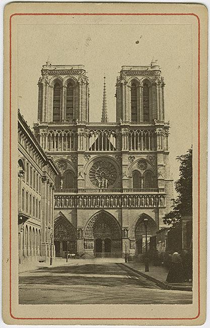 visiittikorttikuva, Eglise Nôtre-Dame, Notre Damen kirkko; ulkokuva