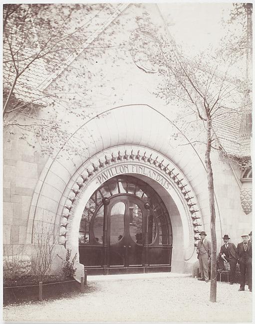 Pariisin maailmannäyttely, Suomen paviljonki; sisäänkäynti