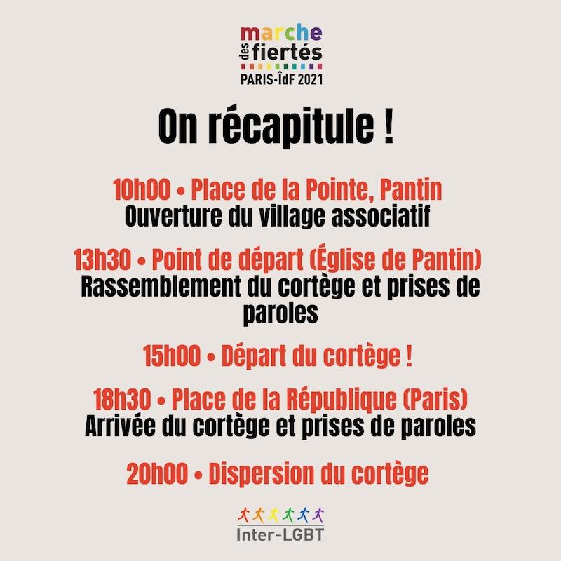 La Marche des Fiertés 2021 à Paris le 26 juin