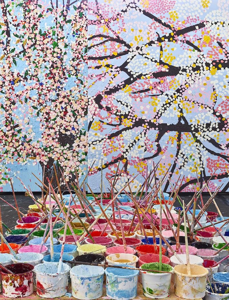 Exposition de Damien Hirst, Cerisiers en Fleurs à la Fondation Cartier du 6 juillet 2021 au 2 janvier 2022