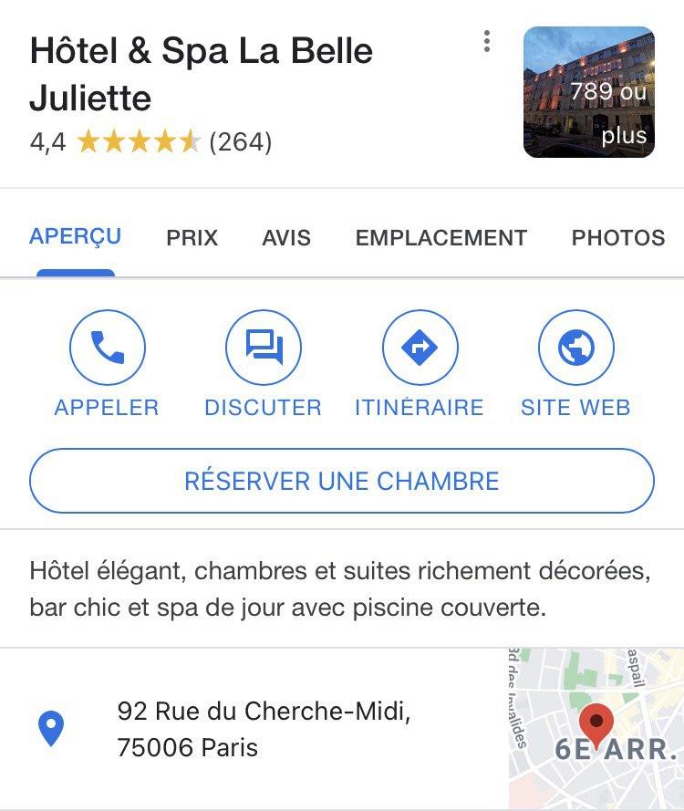 Contactez-nous encore plus facilement avec Google Maps !