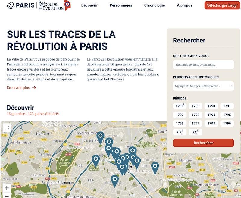 Devenez incollable sur la Révolution française à Paris avec ce site web et app