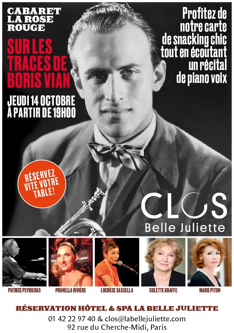 Soirée Cabaret de la Rose Rouge à la Belle Juliette le 14 octobre 2021
