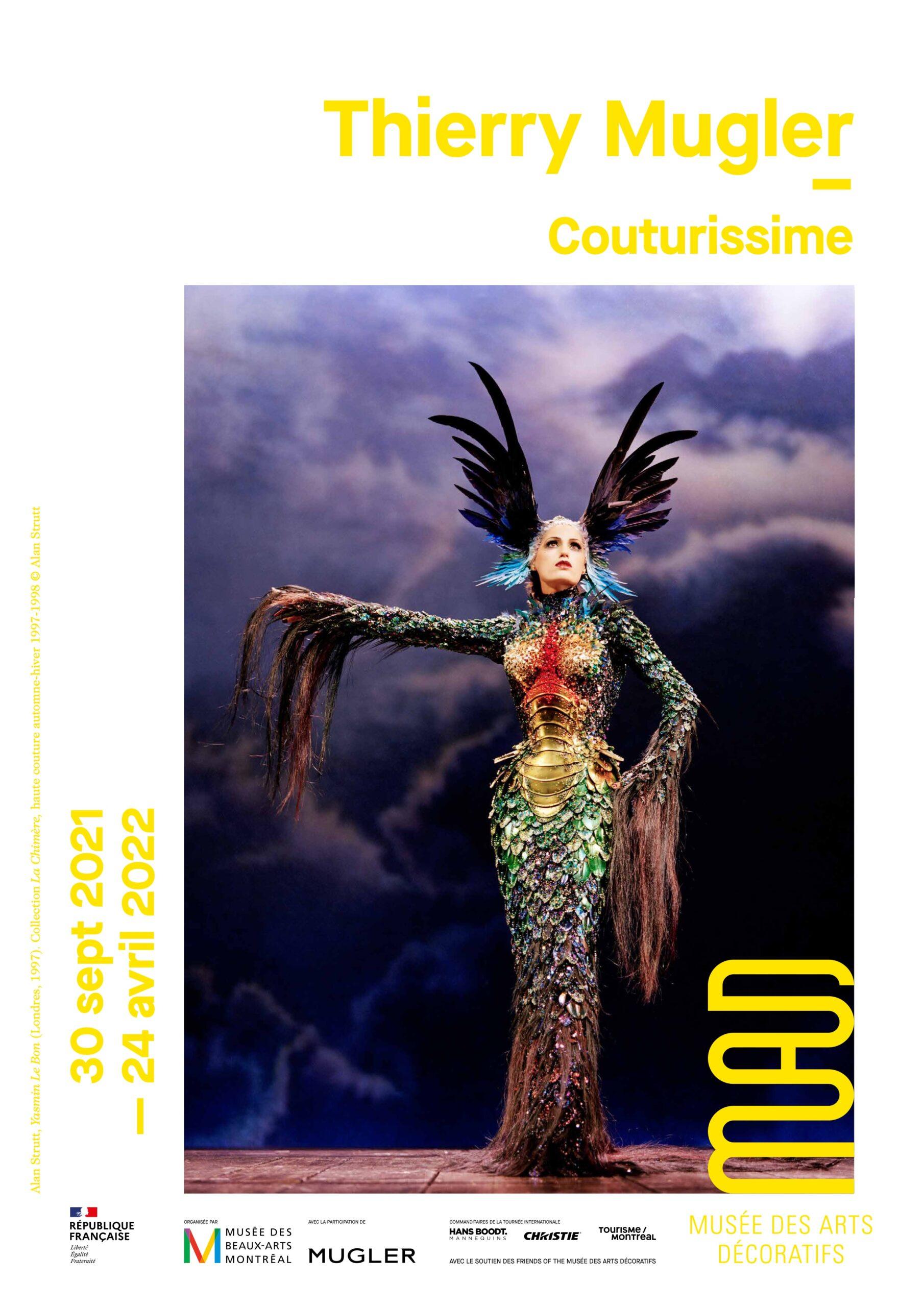 Exposition Thierry Mugler, Couturissime au MAD Paris du  30 septembre 2021 au 24 avril 2022