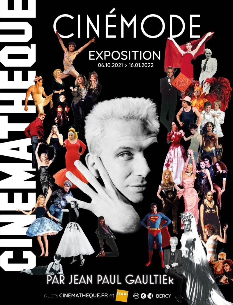 Exposition CinéMode par Jean Paul Gaultier à la Cinémathèque française du  6 octobre 2021 au 16 janvier 2022